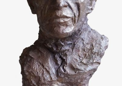 Giacometti bronze face - Lartigue